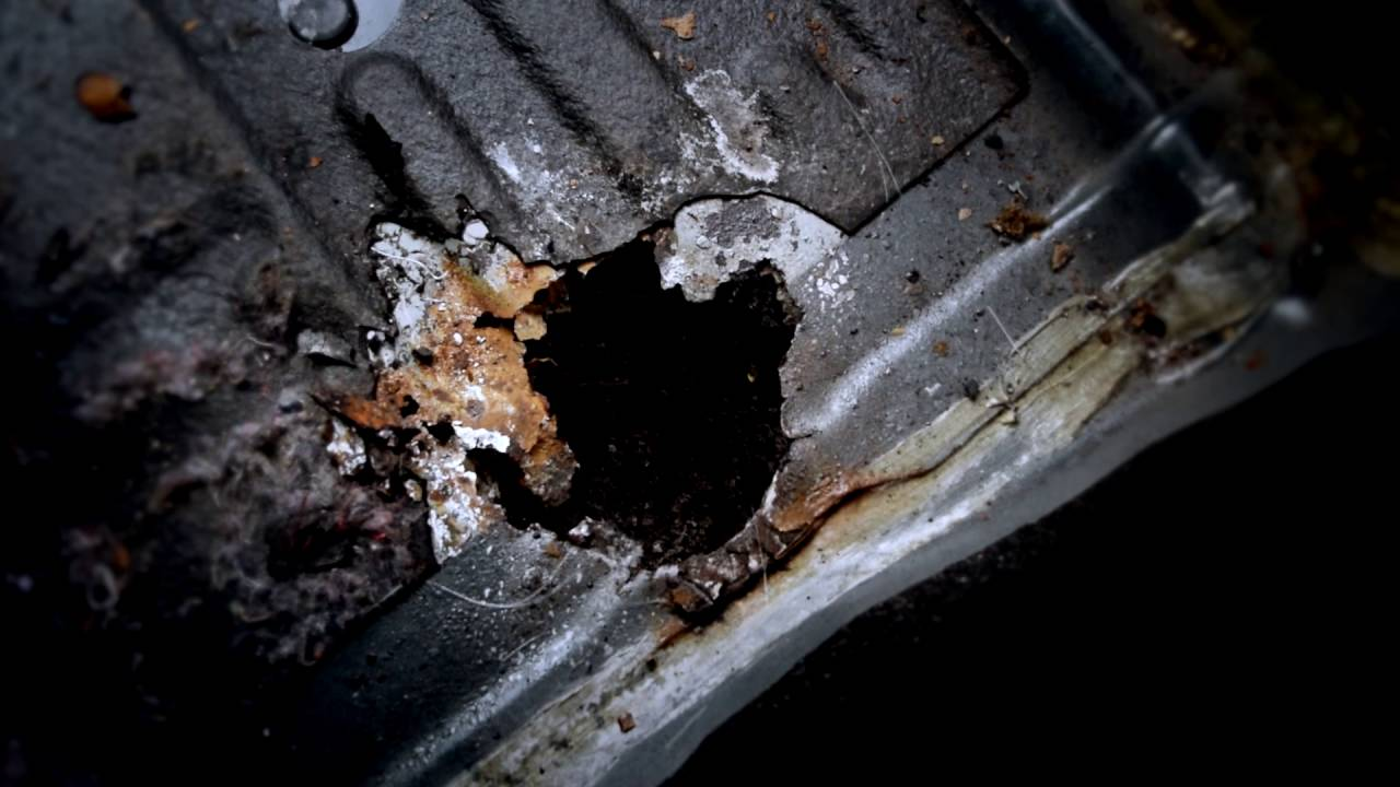 Как заделать дырку в днище автомобиля без сварки - ремонт гнилого дна