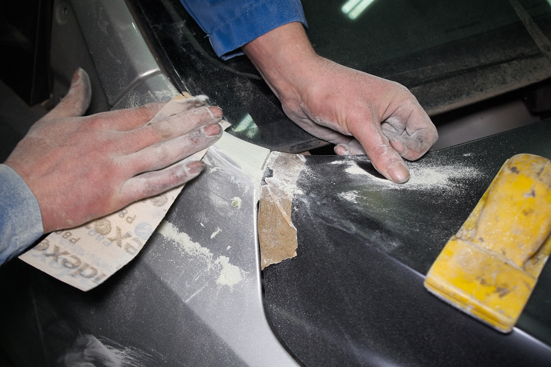 Шпаклевка авто. виды, правила замеса и нанесения шпаклевки для авто на кузов своими руками