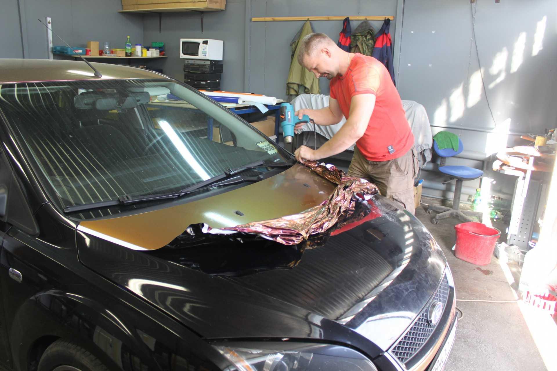 Как клеить пленку на авто: пошаговая инструкция