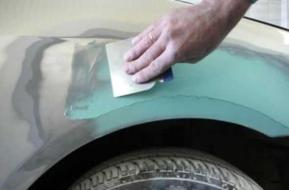 Как зашпаклевать авто своими руками