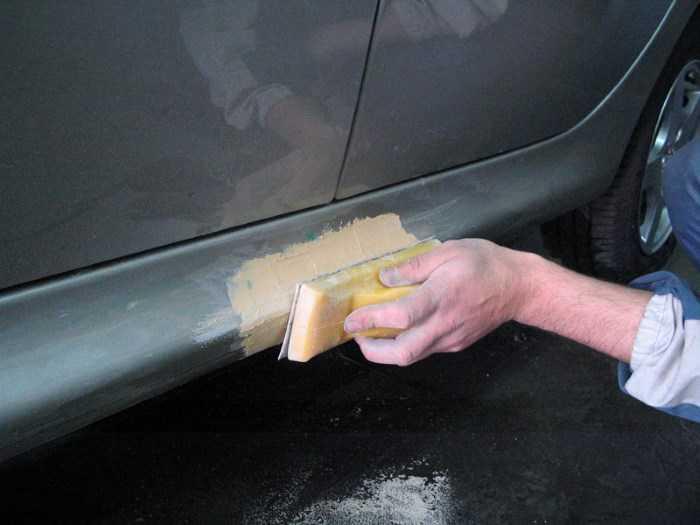 Инструкция по шпаклеванию автомобиля своими руками