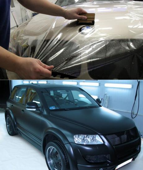Оклейка автомобиля виниловой пленкой своими руками (инструкция + фото и видео)